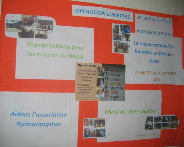 La classe de Term bac pro Gestion Administration se mobilise pour l'association Nyimarangshar